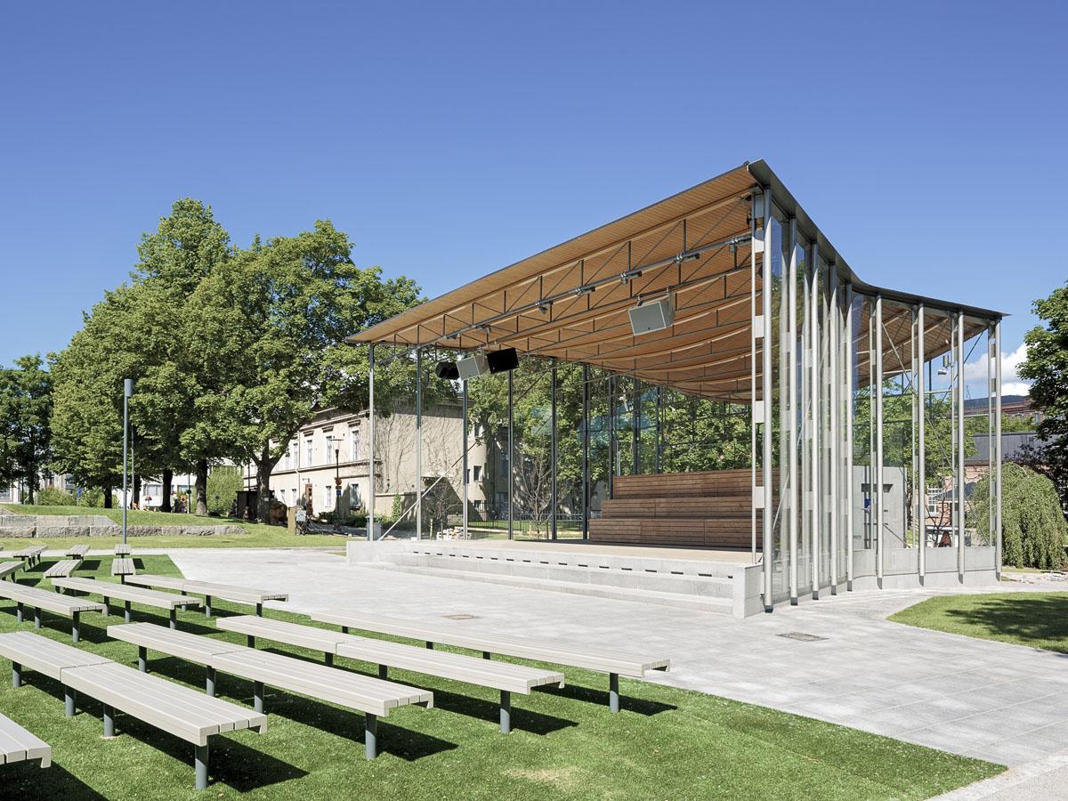 Laikunlava oudoor stage in Tampere, Finland designed by Kontukoski architects