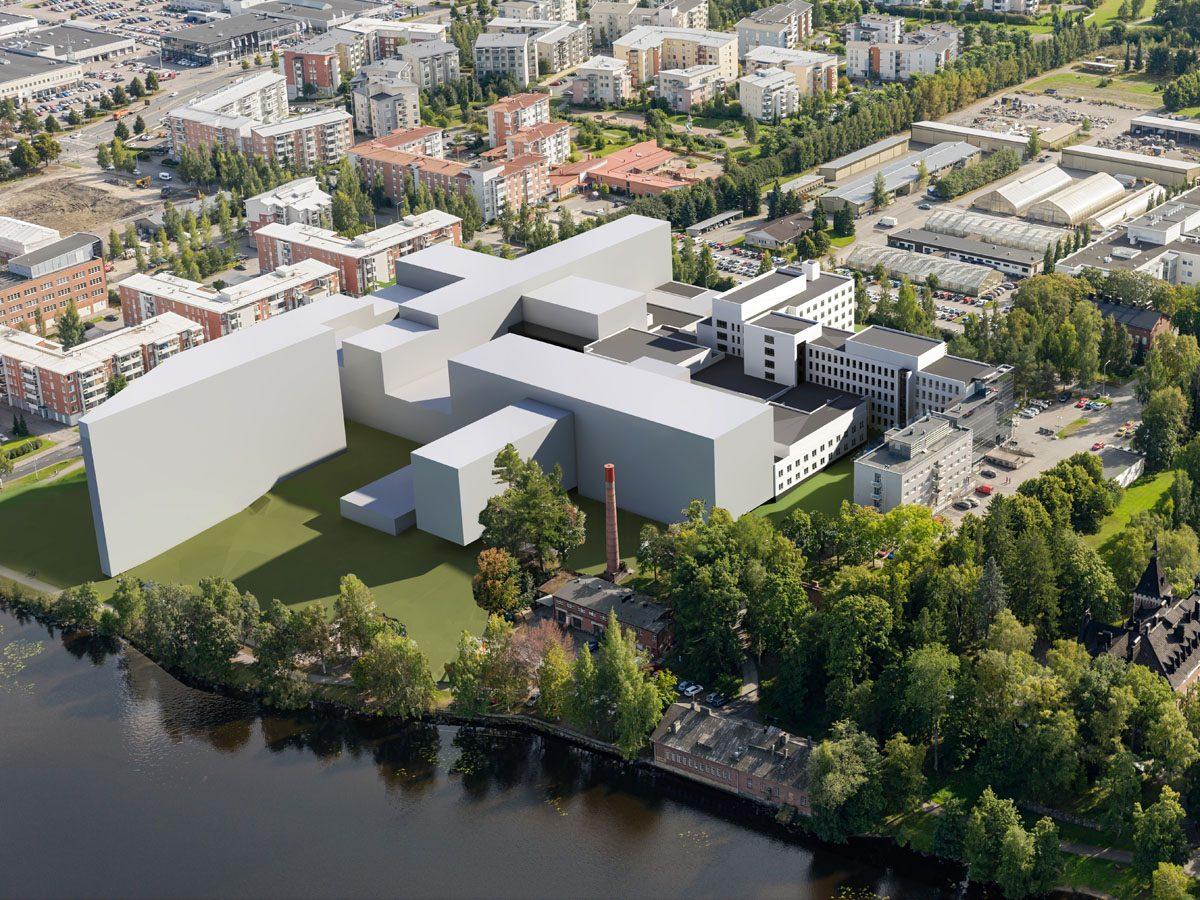 Hatanpään sairaalan masterplan – Arkkitehdit Kontukoski Oy
